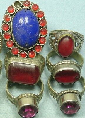 6 Gypsy Hand Made Rings From India