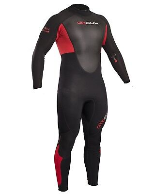 Gul Response 3/2mm Wetsuit - Black & Red (2018) - Mens Back Zip
