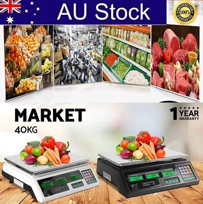 Kitchen Digital Electronic Scale 40KG Commercial Shop Weight Scales Food