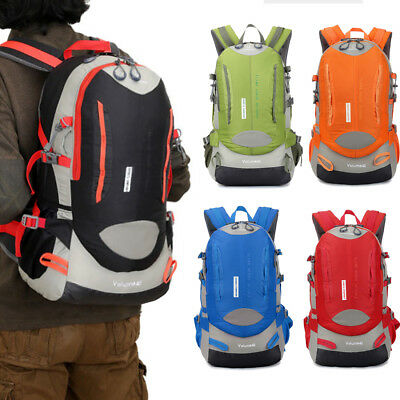 Outdoor Waterproof Breathable Sports Backpack Travel Hiking Camping Rucksack 40L
