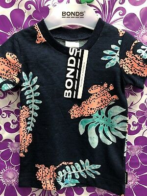 NWT Bonds Baby Unisex Jungle Leopard Tee - Size 1