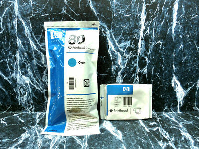 Genuine HP 80 Printhead & Cleaner C4821A NO BOX DesignJET 1000 1050 1055