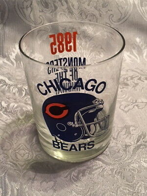 Chicago Bears Bar Glass Vintage 1985 Superbowl Champs Nfl Soldiers Field