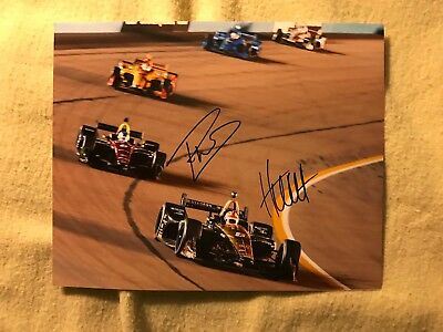 James Hinch Hinchcliffe & Robert Wickens Signed Indianapolis Indy 500 8x10 Car