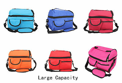 10 L Insulated Thermal Cold Bag Travel Camping Cool Cooler Box Lunch Bag Carrier