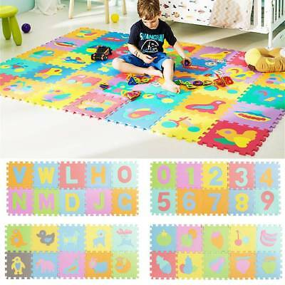 40pcs Alphabet Numbers Fruit EVA Play Mat Baby Children Soft Foam Jigsaw Puzzle