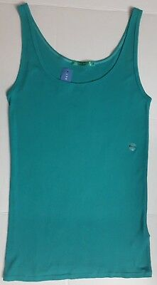 Women's Ribbed Tank Top Stretch Shirt Blue Green Turquoise Size XL NEW NWT