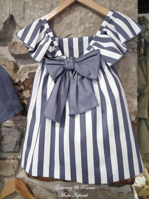 Toddler Baby Kids Girls Ruffle Striped Summer Dress Party Sundress Clothes AU