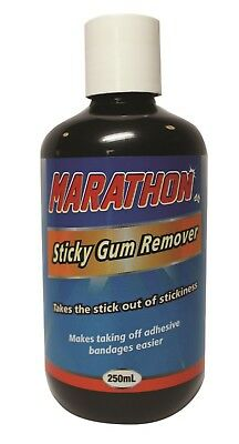 Marathon Sticky Gum Remover 250ml removes chewing gum & labels from everything