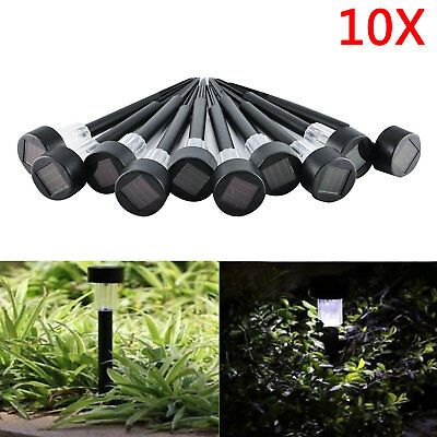 10X LED Solar Outdoor Path Light Spot Lamp Yard Garden Landscape Stainless Steel