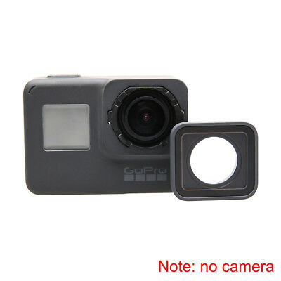 For GoPro HERO 5/6 Camera Lens Cover Replacement Aluminum Alloy Glass Lens Black