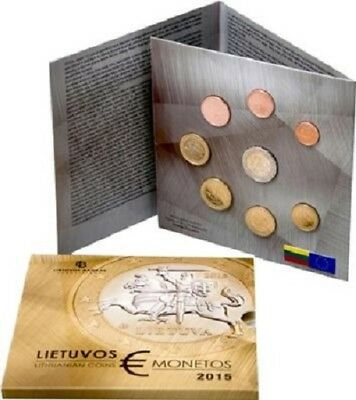 2015 Euro Lithuanian 8 coin UNC Mint Set - Lithuania´s first Euro Mintset