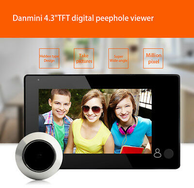 Video Visual Doorbell HD Camera Peephole Viewer Home Security Electronic Audio