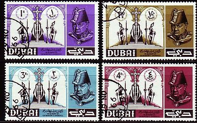 Dubai 1966 Mi.171/74 fine used c.t.o. Sir Winston Churchill