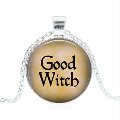 GOOD WITCH Tibet silver Glass dome Necklace chain Pendant Wholesale