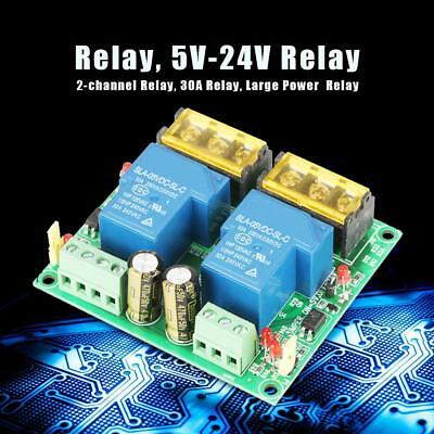 2RL-30A-P 5V-24V 2-channel 30A High Power Large Current Relay Module for PLC/MCU