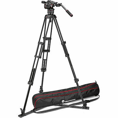 New In Box Manfrotto MVKN8TWING Nitrotech N8 Video Head + 546GB Pro Tripod