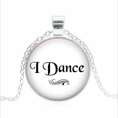 I Dance Tibet silver Glass dome Necklace chain Pendant Wholesale