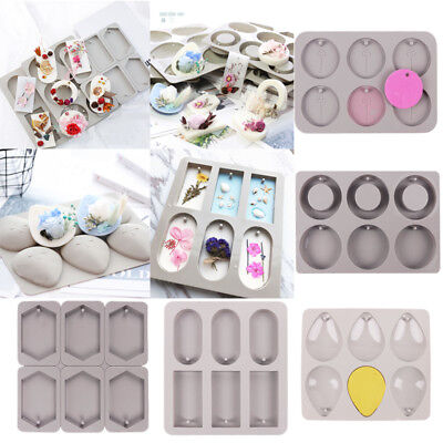 Candle Aroma Wax Tablet Silicone Mold DIY Handmade Dried Flowers Soap Mould Tool