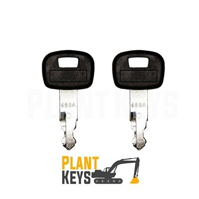 Kubota 459A (Set of 2) Excavator Keys Ignition Parts Mini Equipment Loader Track