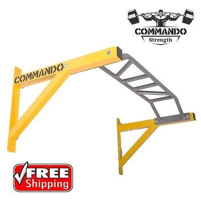 Commando Strength Multi Grip Wall Mounted Chin Up Pull Up Bars