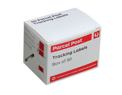 50 AUSTRALIA POST TRACKING LABELS For Domestic Parcels - (1 Box)