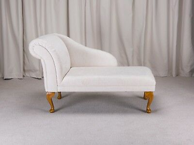 "45"" Chaise Longue in a Woburn Oyster Fabric - Free UK Delivery!!"