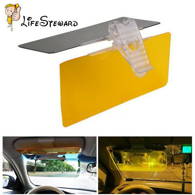 Clip-on Car Anti-Glare Day & Night Vison Safty Driving HD Mirror Glass Sun Visor