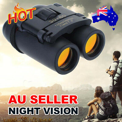 New Day Night Vision Binoculars 30 x 60 Zoom Outdoor Travel Folding Telescope AU