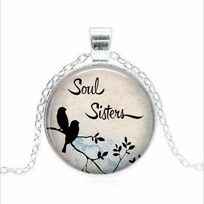 Soul Sisters necklace Tibet silver Glass dome Necklace chain Pendant Wholesale