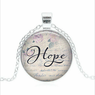 Hope necklace Tibet silver Glass dome Necklace chain Pendant Wholesale