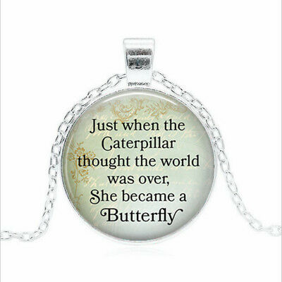 the Caterpillar Tibet silver Glass dome Necklace chain Pendant Wholesale