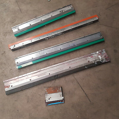 5 x Screen Printing Squeegees