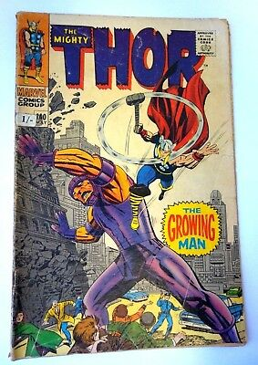 "Marvel Thor Silver Age Comic # 140, May 1967 ""The Growing Man"""