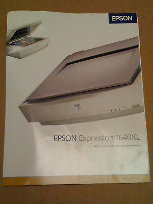 Epson 1640XL Expression Color Image Scanner  Brochure/Pamphlet & Spec Sheet