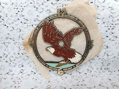 """Vintage (1984) RAMAR 5½"""" EAGLE IN FLIGHT WITH FISH Clock Face Replacement Part"""