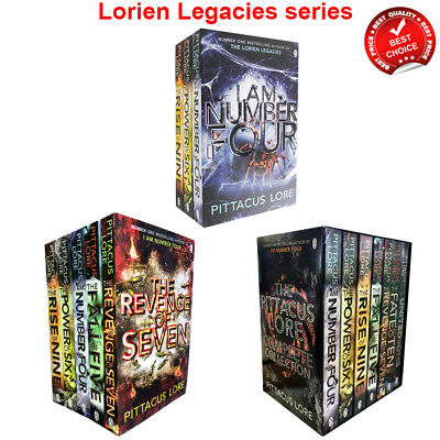 Lorien Legacies Series Pittacus Lore Collection 1-7 Books Set Young Adult Pack