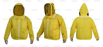 Yellow Three Layers Mesh Ultra Beekeeping Jacket Bee Ventilated Cool Air Medium