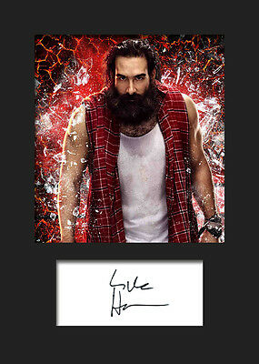 WWE Signed Photo A5 Mounted Print BRAY WYATT #2 FREE DELIVERY