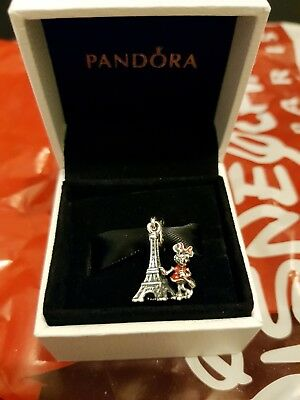 Pandora Disneyland Paris Exclusive Minnie Mouse Charm NEW Disney Land DLP Rare