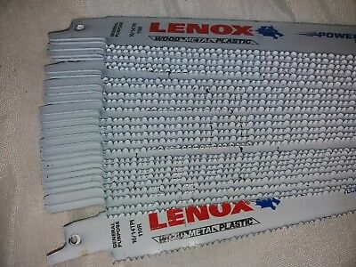 "25xLENOX 12"" 305mm 10/14TPI BI METAL METAL CUTTING RECIP SAW BLADES JOB LOT"