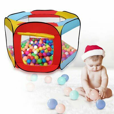 Indoor Outdoor Kids Play House Easy Folding Ball Pit Hideaway Tent Play Hut MA!