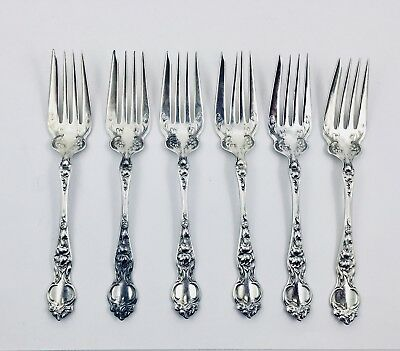 Wallace & Sons. Sterling Silver Violet 1904 Pattern Salad Fork(s) - NO MONO