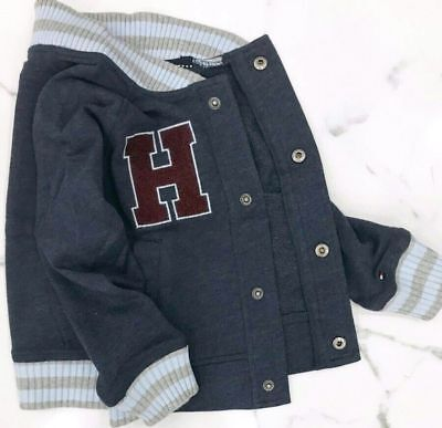 Authentic Tommy Hilfiger Boy's Jacket size 3 RRP usd $64.50 Navy Blue