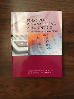 Financial managerial accounting chapters 1 14 2nd edition financial managerial accounting 2nd edition for john carroll university fandeluxe Images