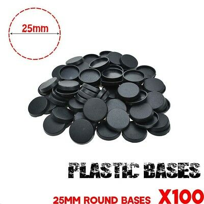 Lot-of-100Pcs-25mm-Round base-For-gaming-miniature & table game FREE SHIPPING