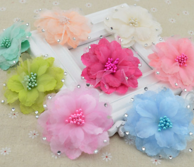 9 Colours NEW Beautiful Embossed Orchid Hair Clip UK Seller