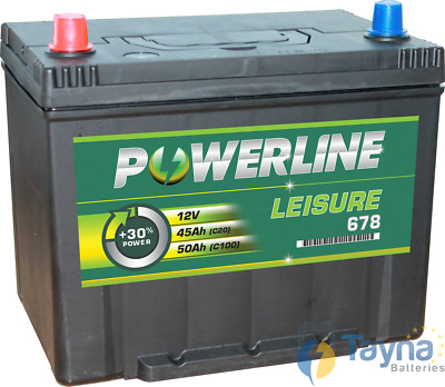 Batterie Camping Bateau 678 - Powerline Caravan/Leisure/Marine Batterie
