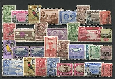 "BECHUANALAND PROTECTORATE - "" 30 Different COMMEMORATIVES & DEFINITIVES "" ."