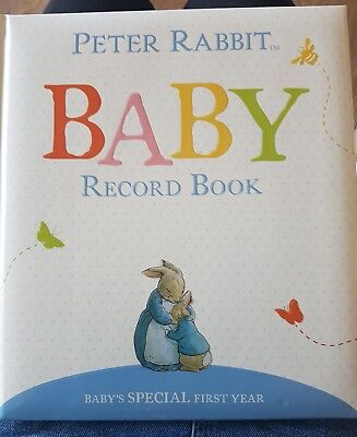 Peter Rabbit Baby's Special First Year Memory Keepsake Record Book Boys Girls